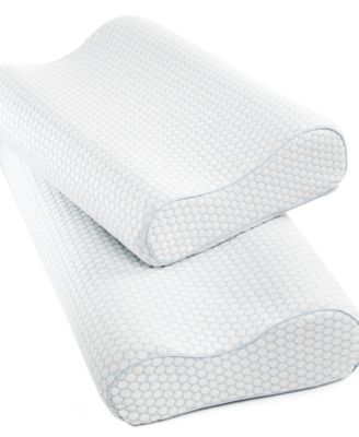sensorgel gel infused memory foam contour pillows heat reducing coolcloth cover created for macyu0027s macyu0027s