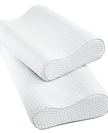 CLOSEOUT! SensorGel Gel-Infused Memory Foam Contour Pillows, Heat Reducing COOLcloth® Cover, Created for Macy's