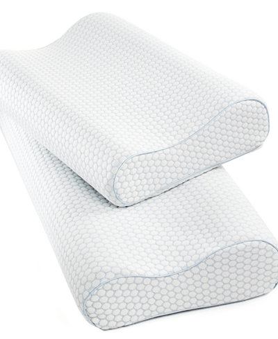 Sensorgel Gel Infused Memory Foam Contour Pillows Heat