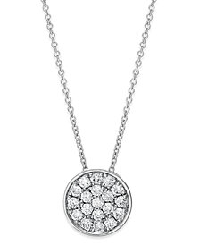 Trio by EFFY Diamond Disc Pendant Necklace (1/4 ct. t.w.) in 14k White, Rose or Yellow Gold