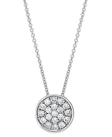 Trio by EFFY® Diamond Disc Pendant Necklace (1/4 ct. t.w.) in 14k White, Rose or Yellow Gold