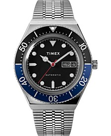 Men's Lab Collab Silver-Tone Stainless Steel Bracelet Watch 40mm