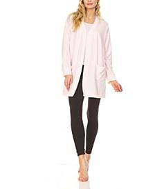 Women's Slouchy Cardigan Knit Lounge Robe