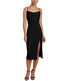 Cowlneck Midi Dress