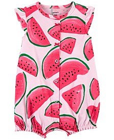 Baby Girls Watermelon Cotton Romper
