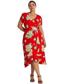 Plus-Size Floral Stretch Jersey Dress