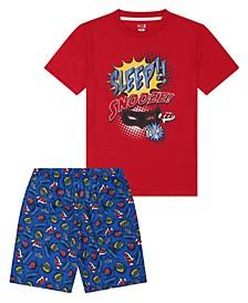 Big Boys Sleepy Short Pajama, 2 Piece Set