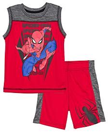 Little Boys Spider Sports Sets, 2 Piece