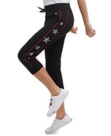 Women's Star-Print Cropped Jogger Pants