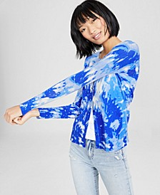 Cashmere Tie-Dyed Cardigan, Created for Macy's