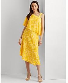 Print Georgette One-Shoulder Dress