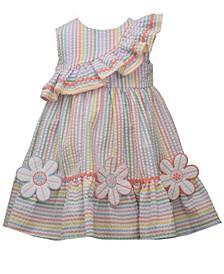 Little Girls Striped Seersucker Sundress