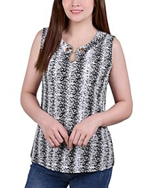 Petite Sleeveless Pullover with Chain