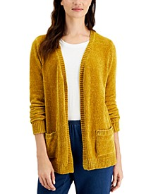 Petite Chenille Cardigan Sweater, Created for Macy's