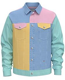 Tommy Hilfiger Men's Pastel Capsule Colorblocked Denim Jacket