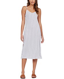 Juniors' Promised Land Striped Midi Dress