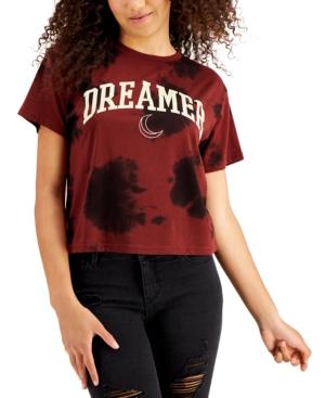 Juniors' Dreamer Graphic Tie-Dye-Print T-Shirt