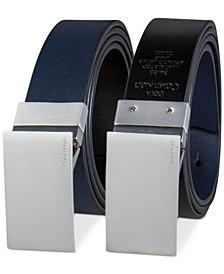 Men's 38mm Plaque Reversible Textured Belt