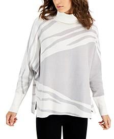 Petite Animal Print Sweater, Created for Macy's