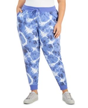 Plus Size Tie-Dyed Jogging Pants