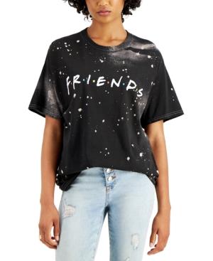 Juniors' Friends Splatter Cotton T-Shirt