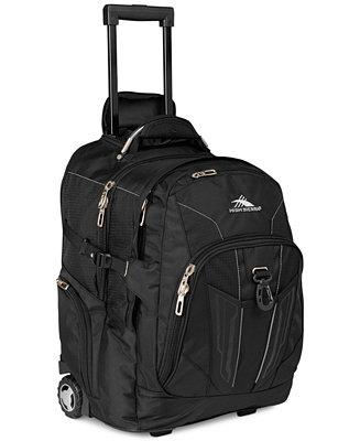 High sierra xbt rolling laptop backpack backpacks for Wedding dress garment bag for air travel