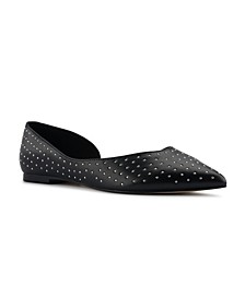 Women's Amore D'Orsay Studded Flats