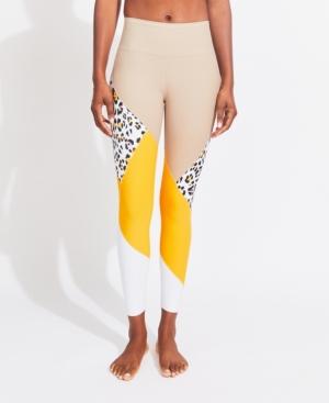 Women's High Rise 7/8 Patchwork Leggings