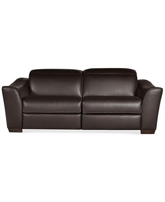 Alessandro Leather Sectional Sofa with 2 Power Recliners with