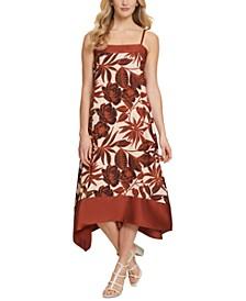 Asymmetrical Floral Swing Dress