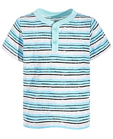 Toddler Boys Striped Henley, Created for Macy's