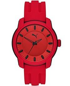 Men's Puma 2 Three-Hand, Black-Tone Polycarbonate Watch, P6019
