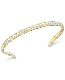 Cultured Freshwater Pearl (5mm) Headband in 14k Gold-Plated Sterling Silver