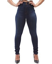Juniors' High Rise Ultra Curvy Skinny Jeans