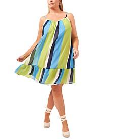 Plus Size Ruffled-Hem Dress