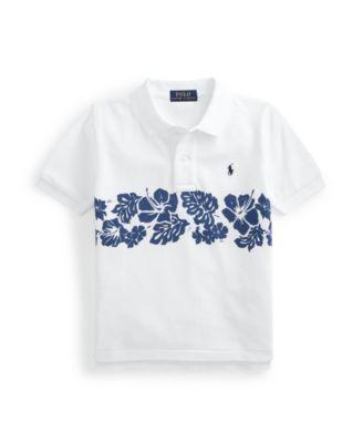 폴로 랄프로렌 남아용 폴로셔츠 Polo Ralph Lauren Toddler Boys Floral Mesh Polo Shirt,White