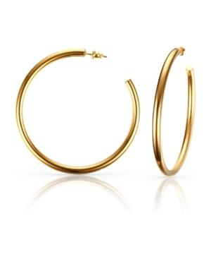 Large Anti-Tarnish Open Hoop Earrings