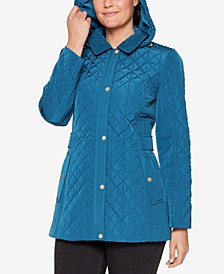 Petite Hooded Quilted Coat