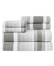 Montauk 6 Piece Towel Set