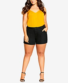 Trendy Plus Size Breeze Denim Shorts