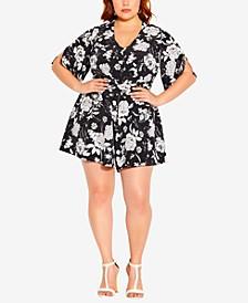 Trendy Plus Size Mod Floral Romper