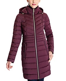 Hooded Stretch Packable Down Puffer Coat, Created for Macy's