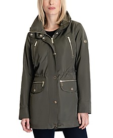 Hooded Anorak Raincoat, Created for Macy's