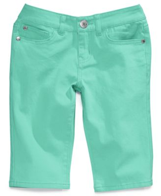 Image of Celebrity Pink Colored Denim Skimmer Shorts, Big Girls (7-16)