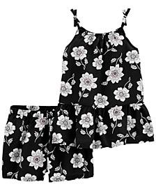 Little Girls Floral Outfit 2 Piece Set