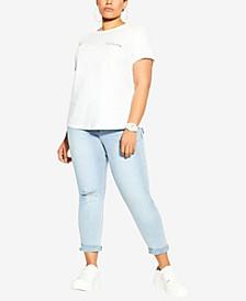 Trendy Plus Size Cotton Clean Lines T-Shirt
