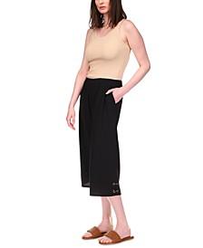 Crinkle Lace-Hem Cropped Pants, Regular & Petite Sizes