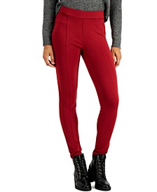 Front-Seam Knit Ponte Pull-On Pants, Created for Macy's