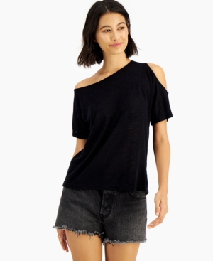 Natalia Asymmetric-Neck T-Shirt