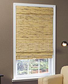 Home Basics Cordless Woven Bamboo Burnout Roman Shades